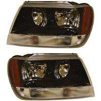 Cheap 2002-2003-2004 Jeep Grand Cherokee Laredo Headlight Headlamp Halogen…