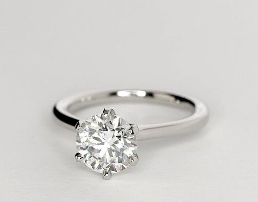 1.5 Carat Diamond Petite Nouveau Six Prong Solitaire Engagement Ring   Recently Purchased   Blue Nile