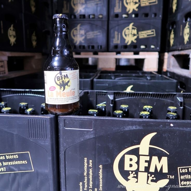 Bier La Meule aus der Brasserie BFM im Jura, Saignelégier. Kleine Brauerei mit eigensinnigen Bieren.