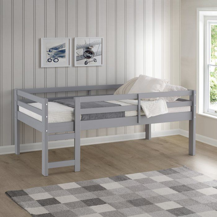 Kempner Twin Low Loft Bed With Images Low Loft Beds Twin Bed