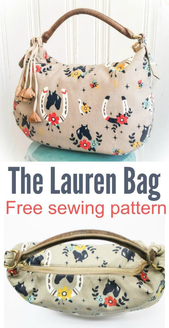 Free purse sewing pattern. The Lauren purse is simple to make using just a yard of fabric. Free handbag sewing pattern.
