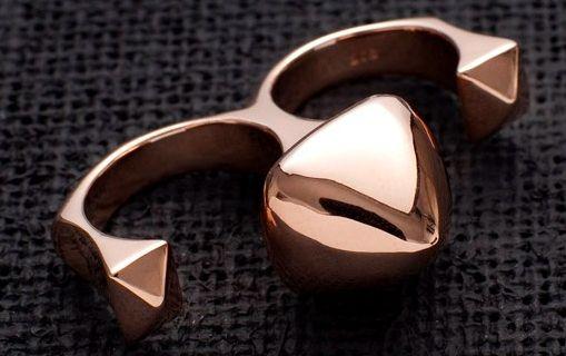 Pretty tough- Aena Khan rose gold knucks.