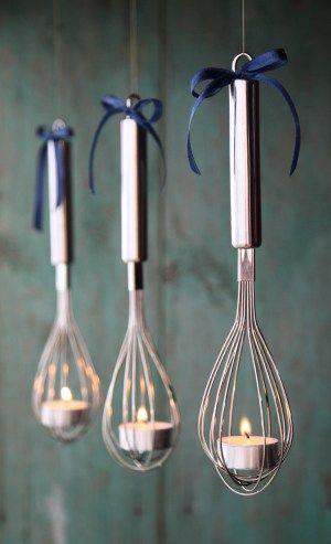 DIY hanging whisk tea light candle holder votive