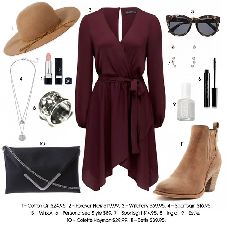 Maroon outfit ideas, formal occasions outfits, wide brim hat, floppy hat…