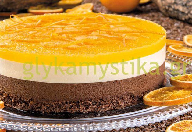 Τούρτα σοκολάτα-πορτοκάλι με ζελέ