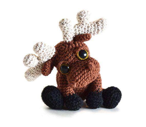Moose Amigurumi Crochet Pattern PDF - Mostyn