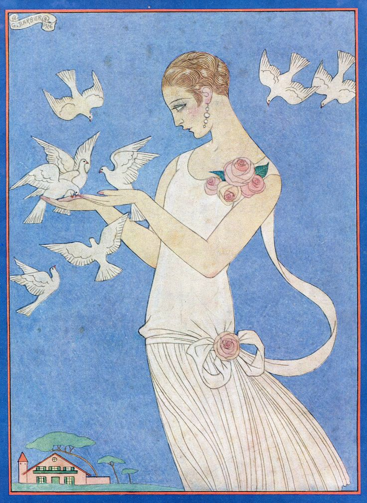 "1926 - George Barbier design used on the May issue of ""femina"" magazine"