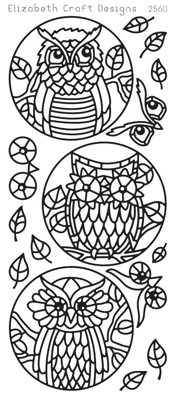 Elizabeth Craft Designs PeelOff Sticker 2560B Owl by PNWCrafts, $2.10