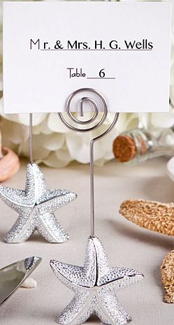 200 Starfish Place Card Holder Beach Wedding Favors - Affordable Elegance Bridal…