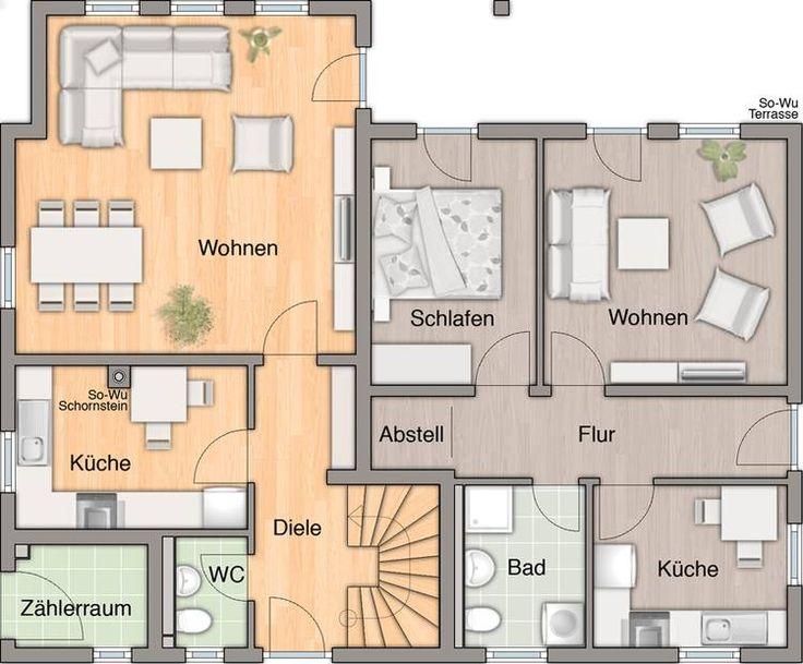 Erfreut Im Obergeschoss Küche Hauspläne Ideen - Küchen Design Ideen ...