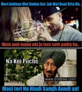#HoneySingh Funny #Trolled By #JaswinderBhalla at TrollTree.Com. Share With Your Friends on facebook & whatsaap. Check out More latest & most funny jokes here.