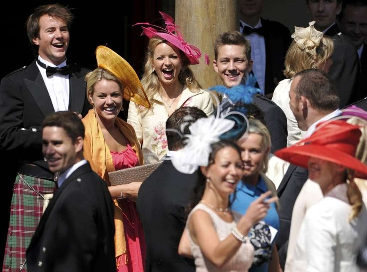 Hats are required for female guests.  They're known to make an appearance at royal events, and weddings are no exception-especially in the spring.