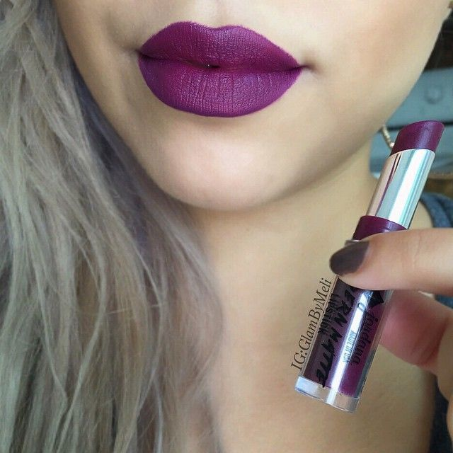 My beauty's on a budget So yesterday I posted on Snap chat that I just picked up @jordana_cosmetics new modern matte lipstick in the shade (Dare) such a pretty purple matte and only $2.49 at Walgreens .. **But when applying make sure you moisturize your lips before applying because the formula is a little drying ..:) #glambymeli #jordanacosmetics #makeupgeek #drugstore