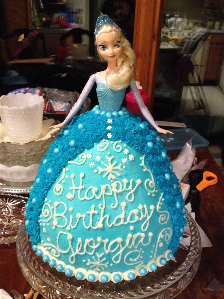 birthday birthday cakes birthday ideas elsa doll cake elsa cakes ...