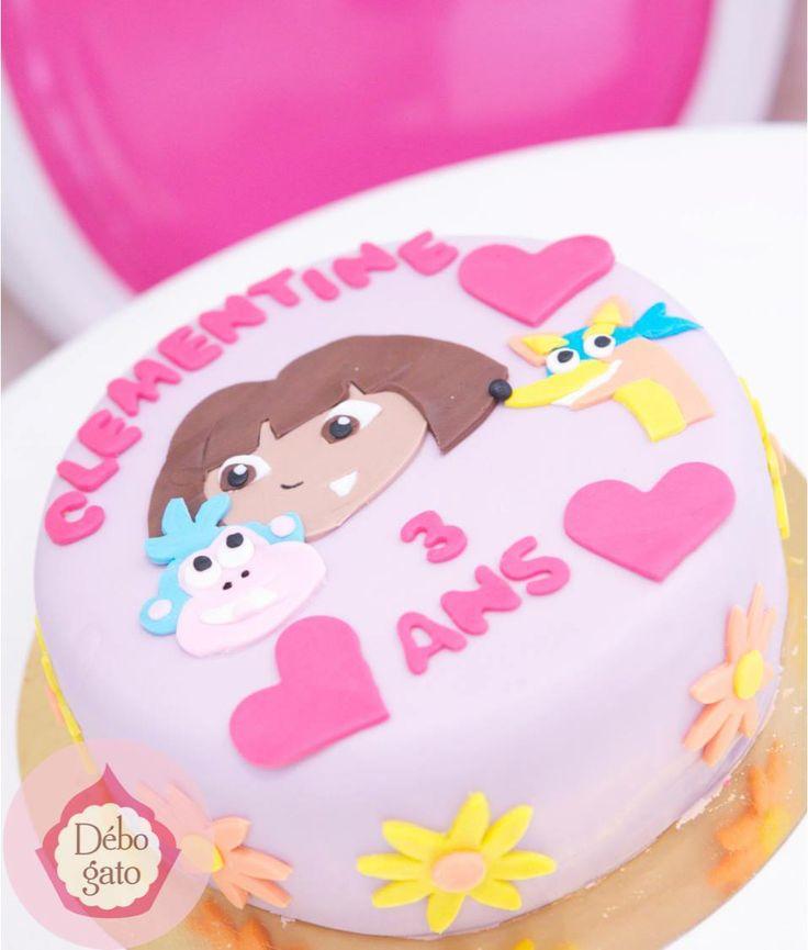 Gâteau Dora l'exploratrice, Dora, Dessin animé, Babouche, Gâteaux personnalisés, Gâteau d'anniversaire, Paris, Gourmandise, Anniversaire, Cake design Paris, Birthday Cake