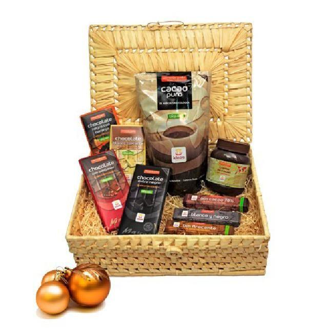 ¿CHOCAHOLIC? Regala esta cesta con solo productos de chocolate de Comercio Justo!