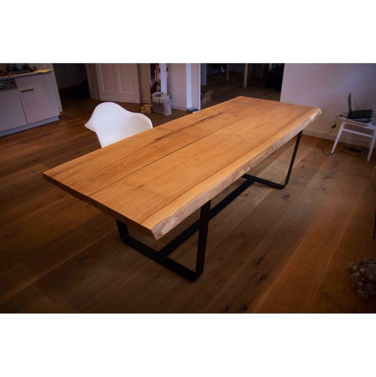 Hardman Design Modern Industrial Table Tafel Hout Zwart Staal Metaal Handgemaakt van Selected Design