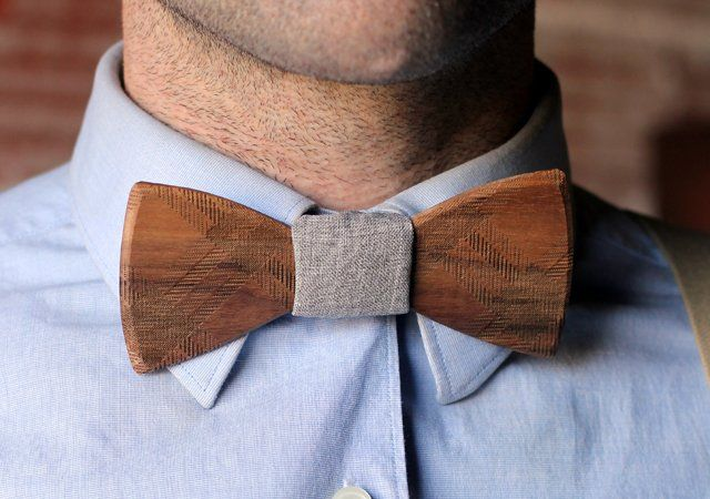 The hipsters are taking this too far. Wooden Bow Tie - $55
