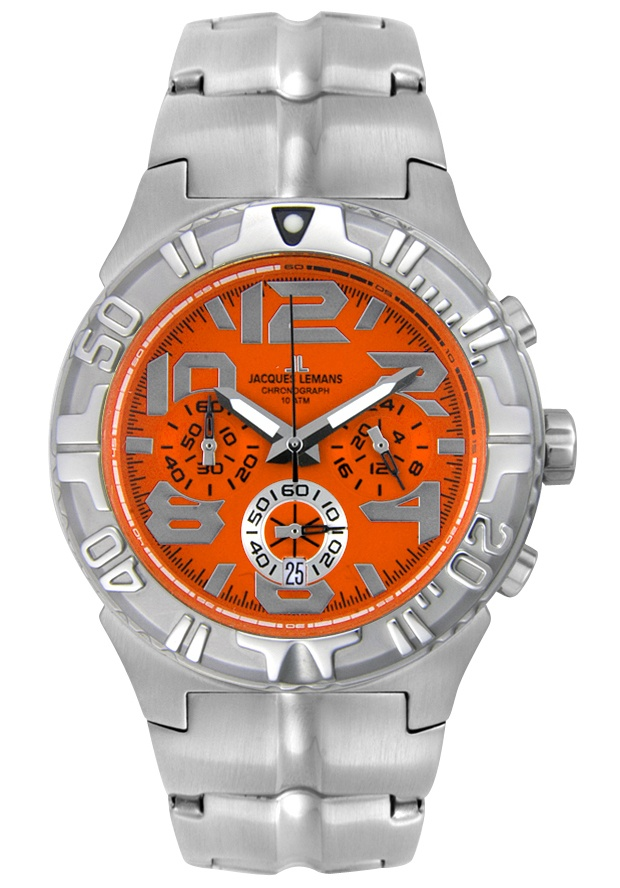 Price:$99.99 #watches JACQUES LEMANS 1343D, With a detailed facade displaying multi-functional subdials, this Jacques Lemans chronograph is style built with precision.