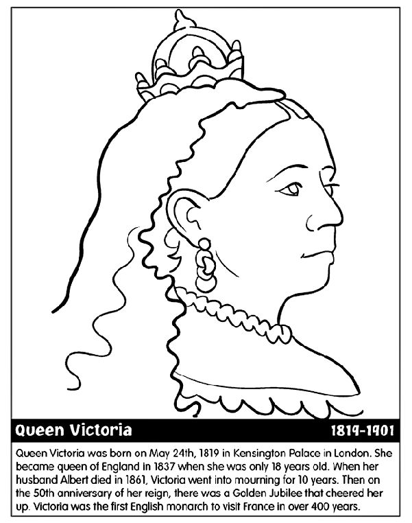 Week 3 Queen Victoria Coloring Page