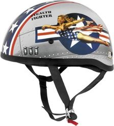 2014 Skid Lid Original Lethal Threat Bomber Pin Up Motorcycle DOT Helmet