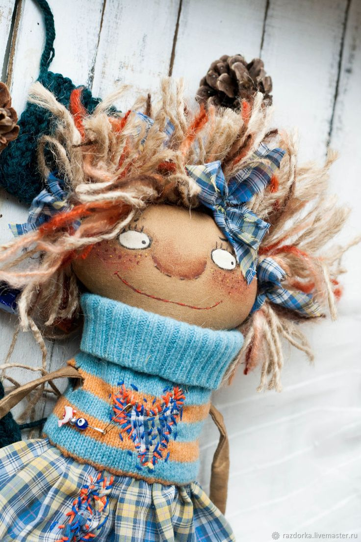 Domovska Fun. Doll souvenir in a gift – shop online on Livemaster with shipping