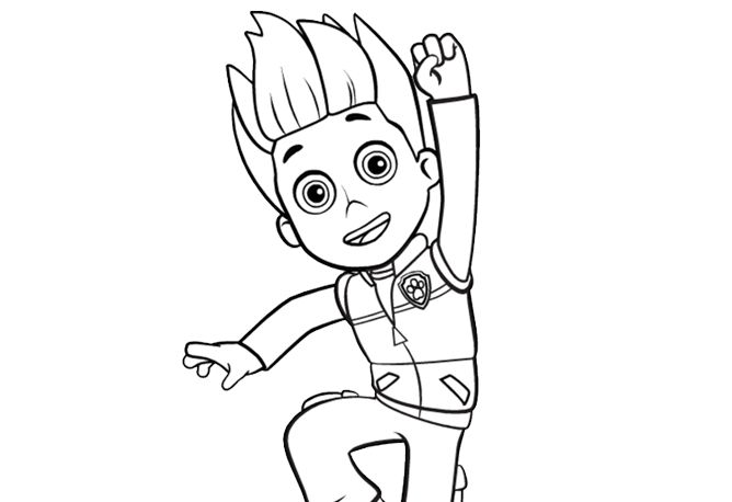 Paw Patrol Ryder Coloring Pages To Print : Ryder paw patrol coloring pages charts pinterest