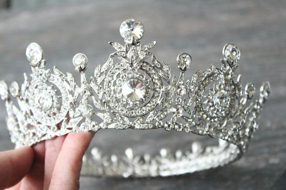 Edwardian Full Bridal Crown Swarovski Crystal by EdenLuxeBridal