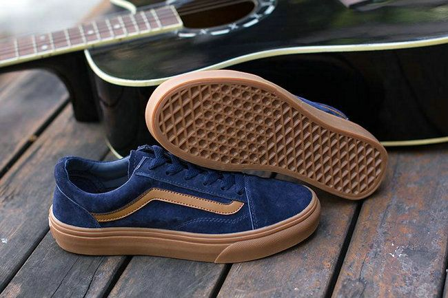 b3f95a054cea14 Vans Old Skool Blue Brown Vans For Sale  Vans