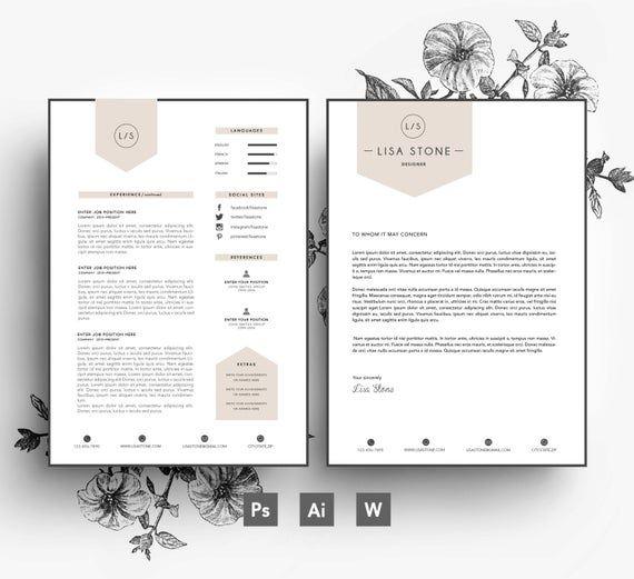 Modele Moderne Affaires Voiture Cv Modele Lettre Modifiable Etsy Resume Design Creative Creative Cv Cover Letter Design