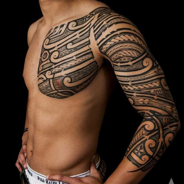 Wicked Tribal Tattoo by Kenny Brown