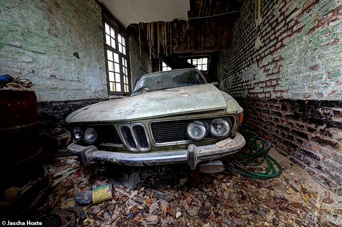 Abandoned Cars In Dubai >> Lost BMW 2800 in Belgium | Wasted Cars | Pinterest | Cars, Villas and Lost
