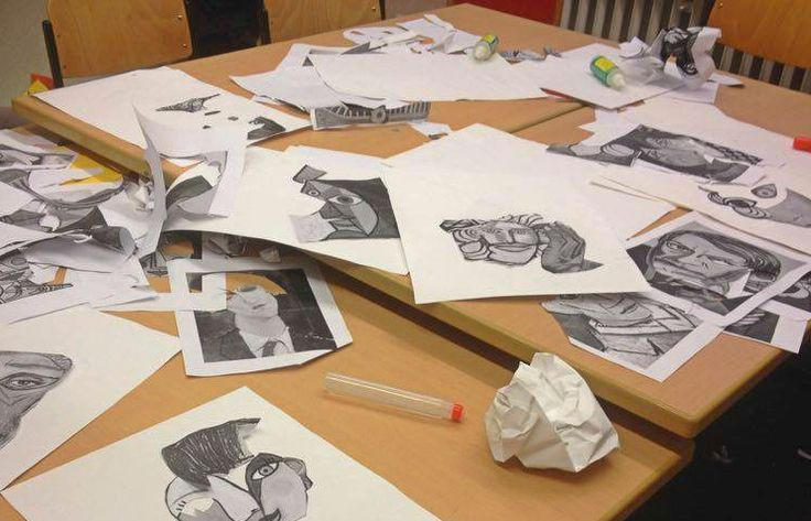 Collage workshop imagined by 2 new volunteers! Picasso portraits cut into pieces to create something even more special!   #passthecrayon #artistscollab #ptc #collagesforkids #workshopsforkids #ngo #berlin #nonprofit #gemeinnützig #volunteeringinberlin #collage #picasso #portraits
