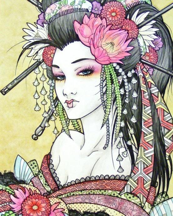 japońska kurtyzana