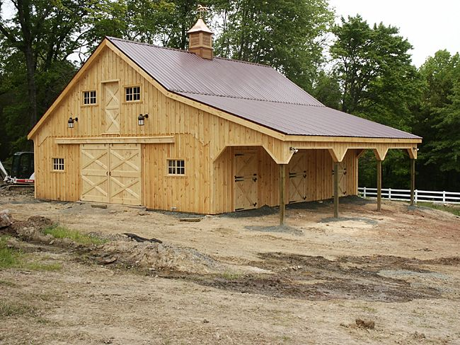 19 best rv barn images on pinterest garage ideas pole for Best horse barn plans
