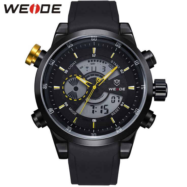 WEIDE Luxury Brand Men Sports Watches Digital Military Watch Waterproof Men Fashion Casual Wristwatches Hot Clock Hour / WH3401