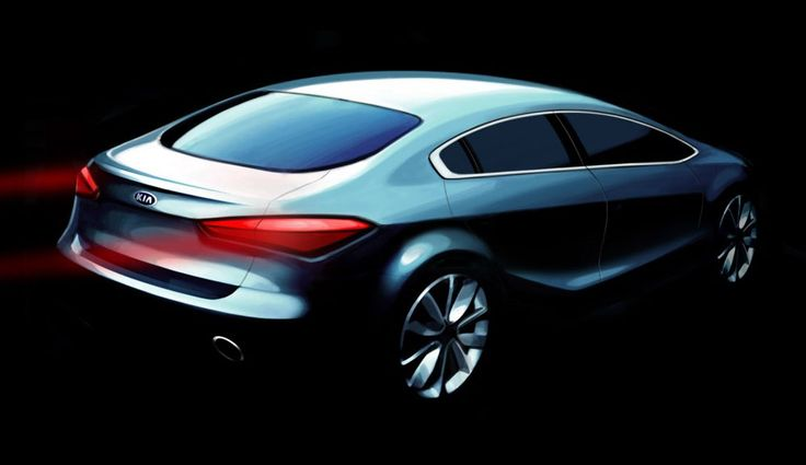Kia Cerato 2013 teaser rearview