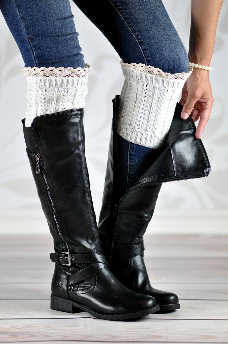 White Braided Boot Cuffs