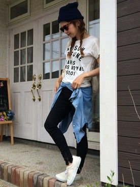 m1su2uk1│KITSUNEのTシャツ・カットソーコーディネート
