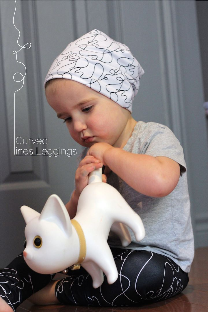 Legging for kids inspired by the Visual Art Language : Curved Lines Legging by Lalita's Art Shop