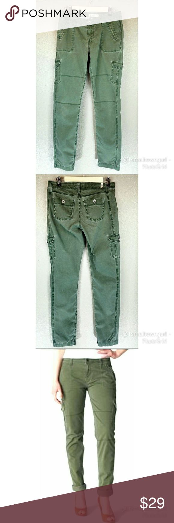 """Levi's 508 Original Chino Cargo Jeans Green 4 Levi's  508  Original Chino Cargo Jeans  Tapered leg Size: 4 Waist: 14"""" Inseam: 32 Rise: 3"""" Excellent condition Levi's Jeans Skinny"""