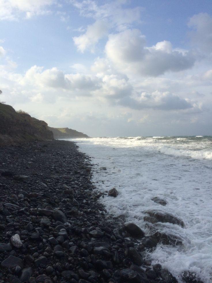 Black sand beaches in Corfu, Greece. #black #Greece #Corfu #Sea