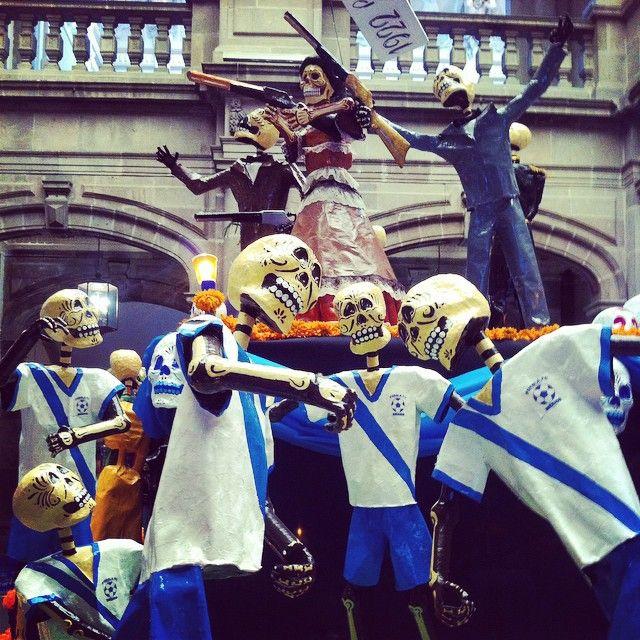 La Franja Calaveras / Puebla FC Calaveras #puebla #lafranja #calaveras #diademuertos #dayofthedead #soypoblana #mexico #travel