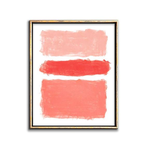 Coral Abstract Painting Printable Wall Decor Downloadable Prints