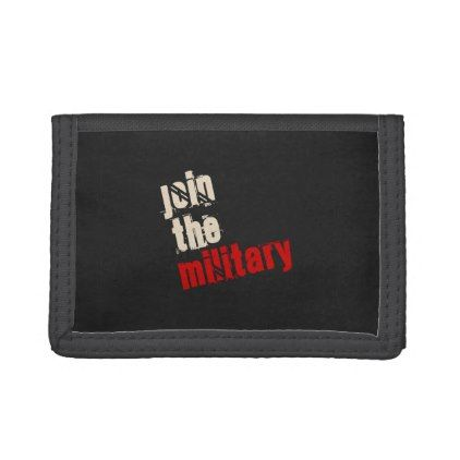 Join the Military Wallet - accessories accessory gift idea stylish unique custom