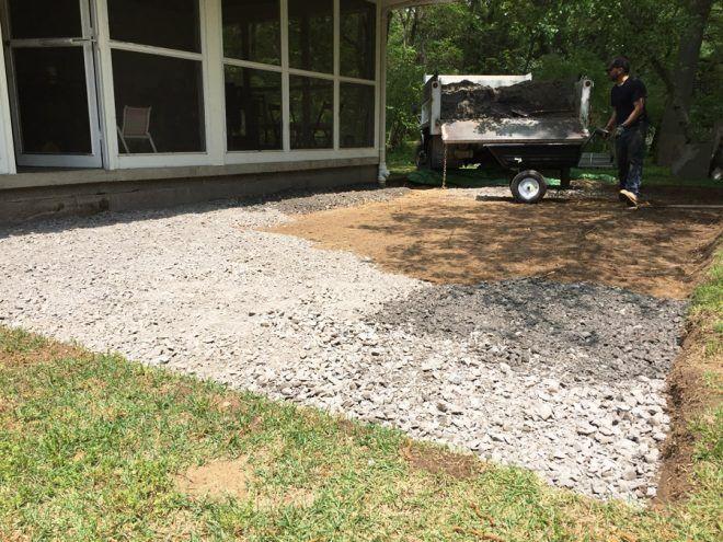 Crusher Run Stone Sand Base For A Flagstone Patio
