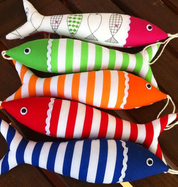 Handmade traditional Portuguese sardines in fun, contemporary fabrics. by OlaFishyWishy on Etsy