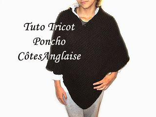 Tuto poncho pour femme au tricot facile