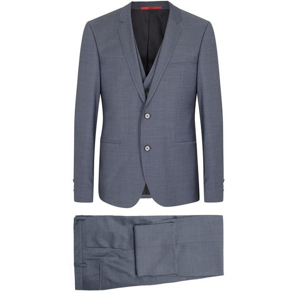 Men's Tailored Suits, Shirts & Trousers - Harvey Nichols ❤ liked on Polyvore featuring mens, men's clothing and men's suits