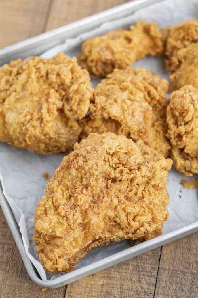 Super Crispy Fried Chicken Made With Buttermilk Chicken Hot Sauce And Seasoned Flour Is Cris Fried Chicken Recipes Fried Chicken Dinner Crispy Fried Chicken